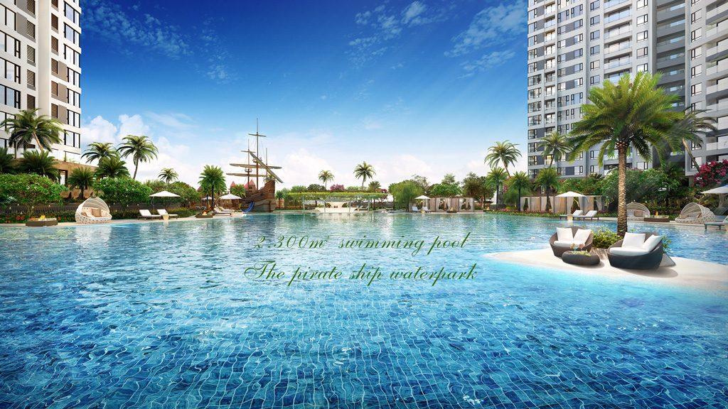 Hồ bơi muối khoáng Đảo Kim Cương